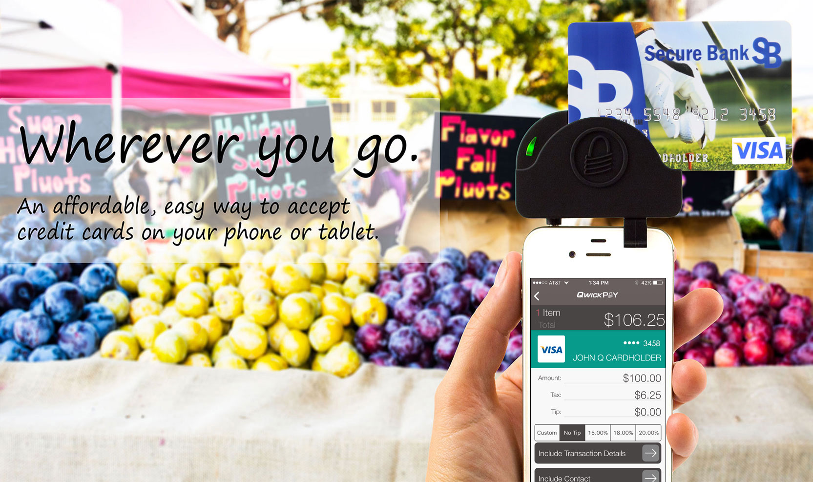 Accept Credit Cards Anywhere with Your Phone or Tablet