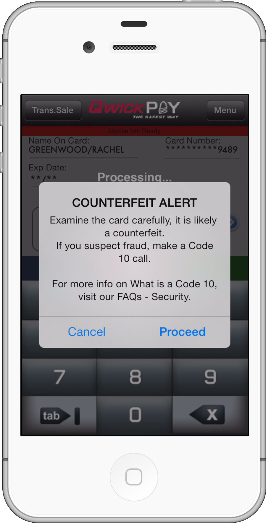 Decline Fraud with Counterfeit Card Alert